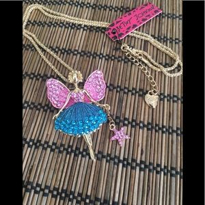 Betsey Johnson Ballerina Pendant Necklace/Broach